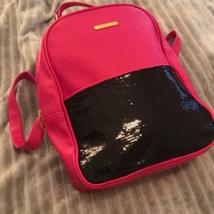 Juicy couture back pack hot pink black
